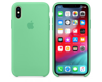 Чехол для Apple iPhone XS  Apple Silicone Case Spearmint (MVF52)