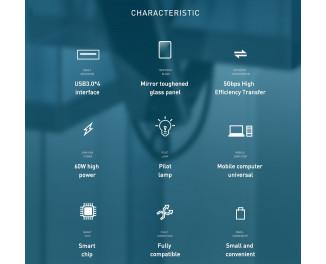 Адаптер USB Type-C > Hub  Baseus Multi-functional 5-in-1 (USB, HDMI, PD) (CAHUB-BZ0G) /gray