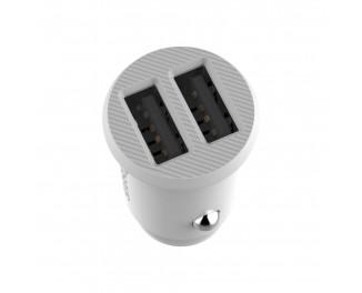 Автомобильное зарядное устройство Baseus Grain 3.1A 2USB /white
