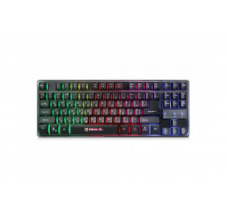 Клавиатура REAL-EL Gaming 8710 TKL Backlit USB черный UAH