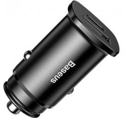 Автомобильное зарядное устройство Baseus Square Metal PD 3.0 QC 4.0+ 30W /black