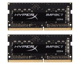 Память для ноутбука SO-DIMM DDR4 8 Gb (2400 MHz) (Kit 4 Gb x 2) Kingston HyperX Impact (HX424S14IBK2/8)