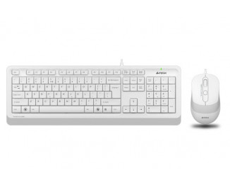 Клавиатура и мышь A4Tech F1010 White USB