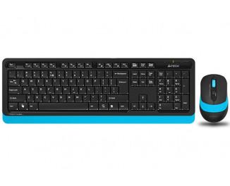 Клавиатура и мышь беспроводная A4Tech FG1010 Black/Blue USB
