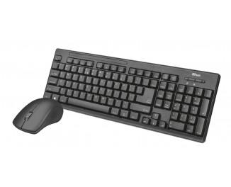 Клавиатура и мышь беспроводная Trust Ziva wireless keyboard with mouse UKR (22119)