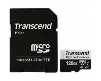 Карта памяти microSD 128Gb Transcend class 10 UHS-I U3 A2 (TS128GUSD330S)