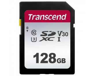 Карта памяти SD 128Gb Transcend class 10 UHS-I U3 V30 (TS128GSDC300S)
