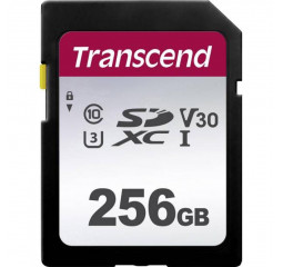 Карта памяти SD 256Gb Transcend class 10 UHS-I (TS256GSDC300S)