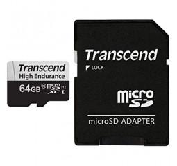 Карта памяти microSD 64Gb Transcend High Endurance class 10 UHS-I U1 (TS64GUSD350V)