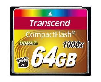 Карта памяти Compact Flash 64Gb Transcend 1000x (TS64GCF1000)