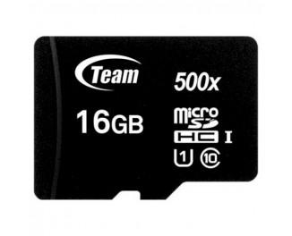 Карта памяти microSD 16Gb Team Class 10 UHS-I (TUSDH16GCL10U02)