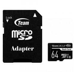 Карта памяти microSD 64Gb Team class 10 UHS-I (TDUSDX64GUHS03)