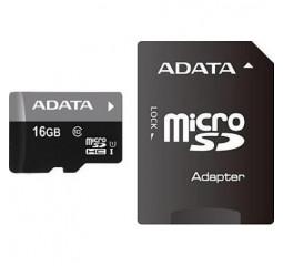 Карта памяти microSD 16Gb ADATA class 10 UHS-I (AUSDH16GUICL10-RA1)