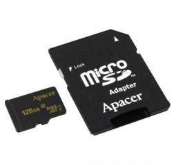 Карта памяти microSD 128Gb Apacer UHS-I Class10 w/ 1 Adapter RP (AP128GMCSX10U1-R)