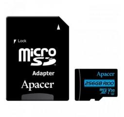 Карта памяти microSD 256Gb Apacer class 10 UHS-I U1 V10 (AP256GMCSX10U7-R)