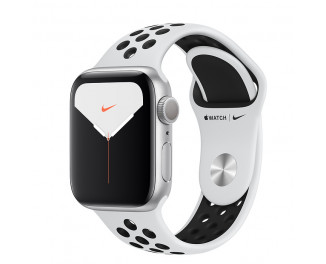 Смарт-часы Apple Watch Nike+ Series 5 GPS 40mm Silver Aluminum Case with Pure Platinum/Black Nike Sport Band (MX3R2)