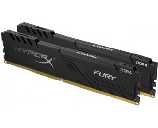 Оперативная память DDR4 32 Gb (3200 MHz) (Kit 16 Gb x 2) Kingston HyperX Fury Black (HX432C16FB3K2/32)