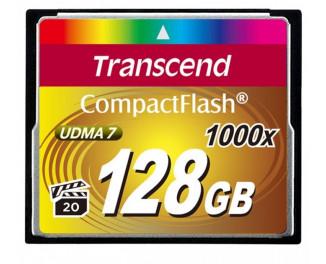 Карта памяти Compact Flash 128Gb Transcend 1000x (TS128GCF1000)