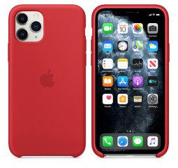 Чехол для Apple iPhone 11 Pro  Apple Sillicone Case /red