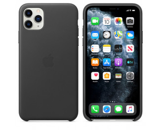 Чехол для Apple iPhone 11 Pro Max  Apple Leather Case /black
