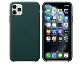 Чехол для Apple iPhone 11 Pro Max  Apple Leather Case Forest Green (MX0C2)