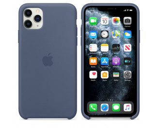 Чехол для Apple iPhone 11 Pro Max  Apple Sillicone Case /alaskan blue