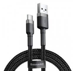 Кабель USB Type-C > USB  Baseus Cafule Cable 2.0м /black&gray