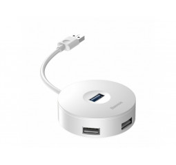 Адаптер USB Type-C > Hub  Baseus Round Boxl 4-in-1 (USB to USB) (1m) /white