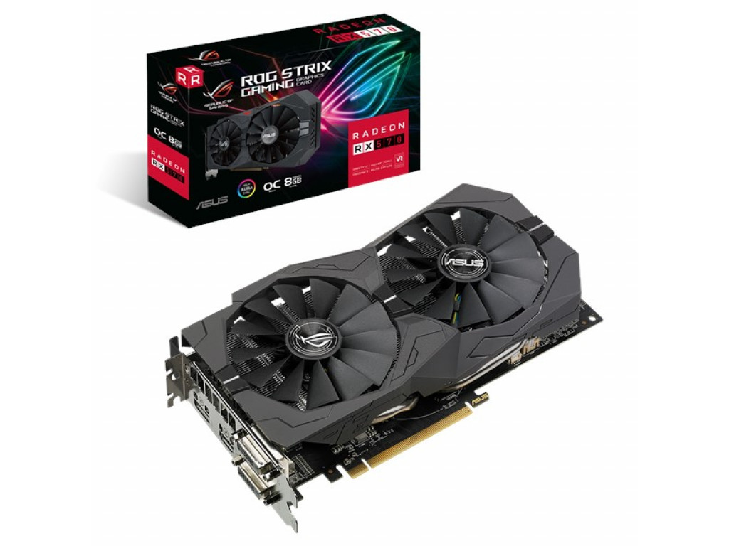 Видеокарта ASUS Radeon RX 570 ROG Strix OC edition 8GB (ROG-STRIX-RX570-O8G-GAMING)