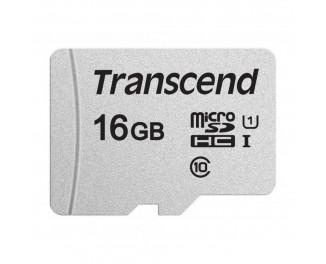 Карта памяти microSD 16Gb Transcend U1 (TS16GUSD300S)