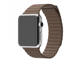 Кожаный ремешок для Apple Watch 38/40 mm Leather Loop /dark brown