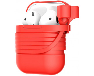 Чехол для AirPods  Baseus Silicone Case /Red