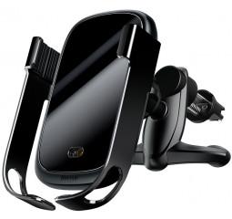 Автомобильное беспроводное зарядное устройство Wireless Charger Baseus Rock-Solid Electric Holder /black