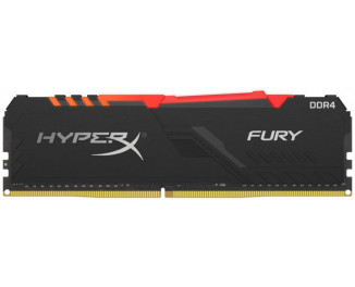 Оперативная память DDR4 8 Gb (2400 MHz) Kingston HyperX Fury Black RGB (HX424C15FB3A/8)