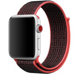 Нейлоновый ремешок для Apple Watch 42/44mm Sport Loop Series 1:1 Original /Red-Black