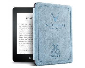 Обложка для электронной книги Amazon Kindle Paperwhite 10th Gen.  Soft Silicone Vintage Case /Blue