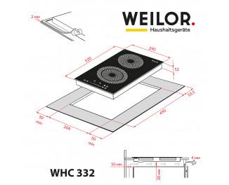 Электрическая варочная поверхность Weilor WHC 332 BLACK