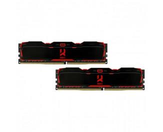 Оперативная память DDR4 16 Gb (3200 MHz) (Kit 8 Gb x 2) GOODRAM Iridium X Black (IR-X3200D464L16S/16GDC)