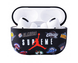 Чехол для AirPods Pro IMD Brand Case (PC) /supreme black