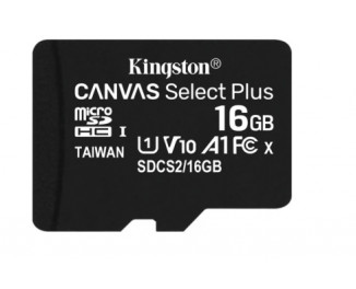 Карта памяти microSD 16Gb Kingston Canvas Select Plus UHS-I Class 10 (SDCS2/16GBSP)