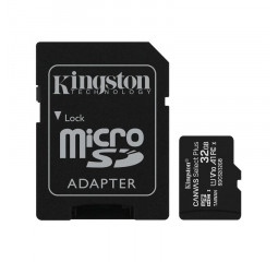 Карта памяти microSD 32Gb Kingston Canvas Select Plus UHS-I Class 10 + SD-адаптер (SDCS2/32GB)