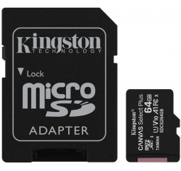 Карта памяти microSD 64Gb Kingston class 10 A1 Canvas Select Plus (SDCS2/64GB)