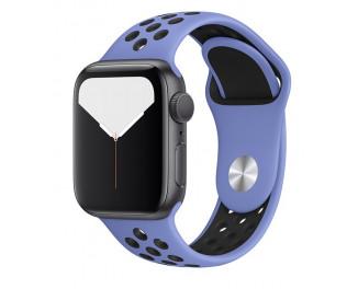 Силиконовый ремешок для Apple Watch 38/40 mm Sport Nike+ /Royal Pulse&Black