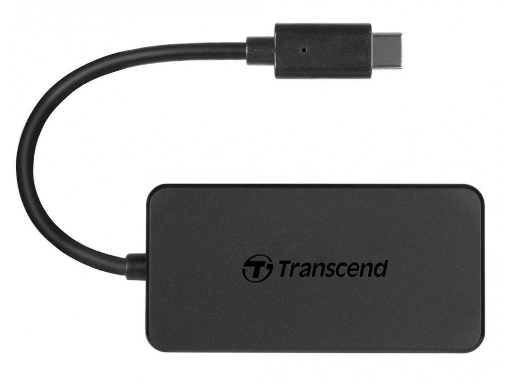 Адаптер USB Type-C > Hub  Transcend (USB 3.1) /black