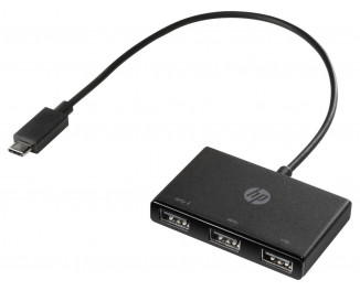 Адаптер USB Type-C > Hub  HP (USB 3.0) /black