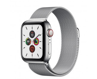 Смарт-часы Apple Watch Series 5 GPS + Cellular 44mm Stainless Steel Case with Steel Milanese Loop (MWWG2, MWW32)