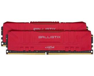 Оперативная память DDR4 16 Gb (3000 MHz) (Kit 8 Gb x 2) Crucial Ballistix Red (BL2K8G30C15U4R)
