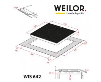 Индукционная варочная поверхность Weilor WIS 642 WHITE