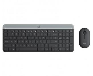 Клавиатура и мышь беспроводная Logitech MK470 Wireless Slim Graphite (920-009206)
