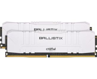 Оперативная память DDR4 16 Gb (3200 MHz) (Kit 8 Gb x 2) Crucial Ballistix White (BL2K8G32C16U4W)
